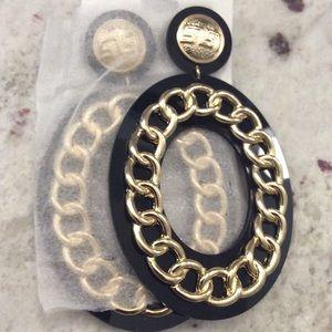 Large Plexiglass Chain Earring